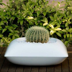 Pillow Macetero Pot Vondom Blanc Mat