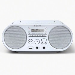 Radio Sony CD Lecteur MP3 Via Port USB Blanc