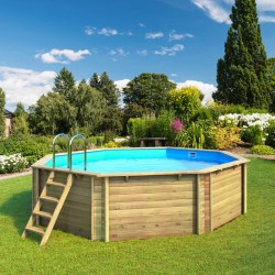 Wooden swimming pool tropic 505 octagonal BWT myPOOL
