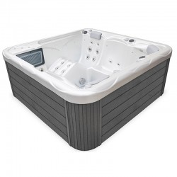 Wellis Pluto Spa White Pearl Grey 5 Places Myline Spa