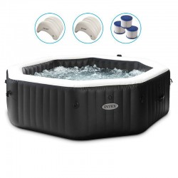 Spa Intex Carbone Bulles et Jets 6 Places Pure Spa