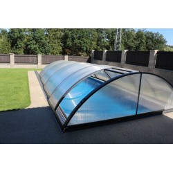 Pool shelter in Aluminum and Polycarbonate 332 x 642 x 111