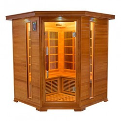 Sauna infrarouge LUXE 3 à 4 places - Selection VerySpas