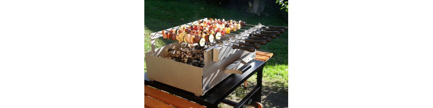 Barbecues and grills to the charcoal